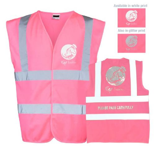 LARGE Horse riding safety pink hi vis vest - CLEARANCE PRICE